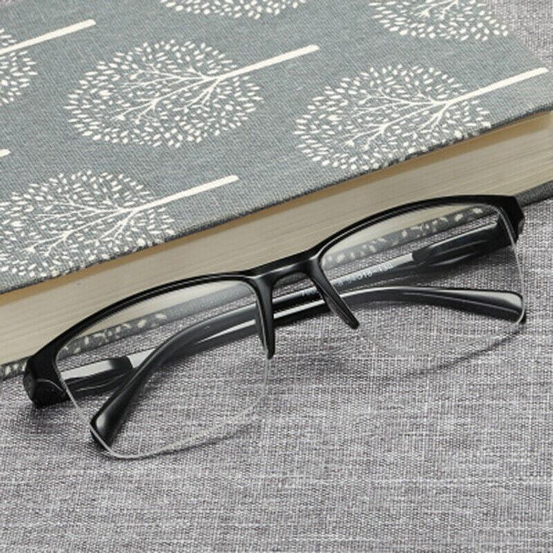 DE Halber Rahmen Lesebrillen Lesebrille Brille Lesehilfe Sehhilfe +0,25 bis +4,0