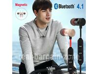 Bluetooth Wireless Magnet Sports Earphones Headset Headphone