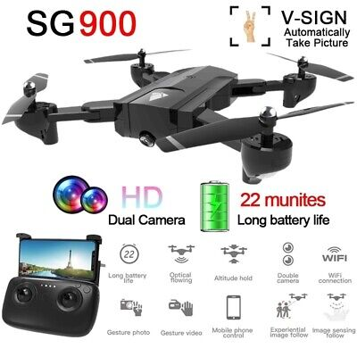 Clearance SG900 Foldable Drone Dual Camera Selfi WIFI Video HD RC Quadcopter