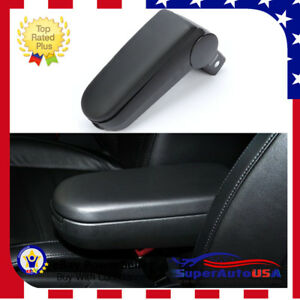 Black New Leather Center Console Armrest for Jetta Bora MK4 VW Golf Passat B5
