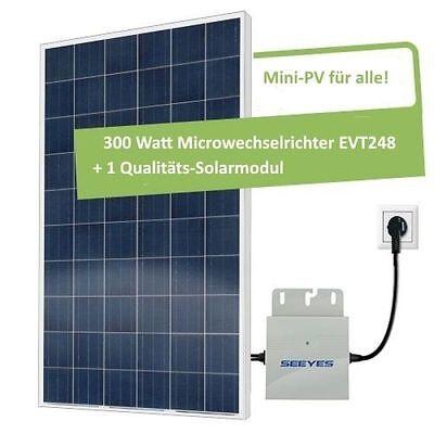 TOP! 260 Watt Solar-Set PV-Anlage mit EVT248 für Hausstromnetz Eigenverbrauch!