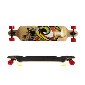 "41"" Drop-Through Deck Skateboard Longboard Complete Super Cruise"