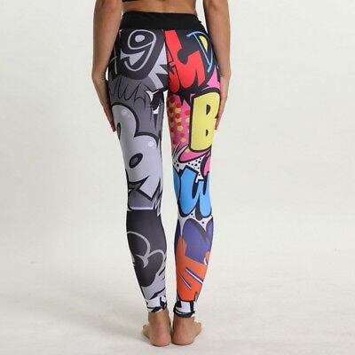 e977df6023577 UK Women Yoga Fitness Gym Leggings Funny Colorful Sports Running Pants  Trousers