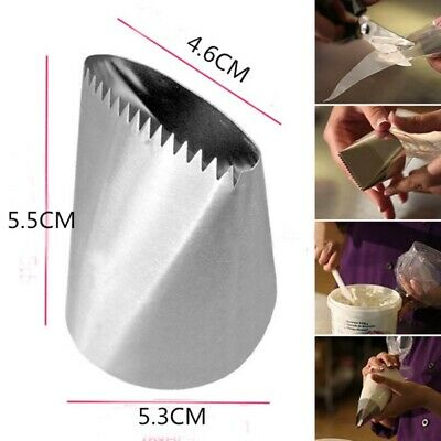 - Large Stainless Steel Icing Piping Nozzles Pastry Tip Cream Cake Decor Cake Tool