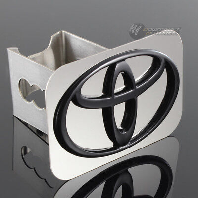 Toyota Black Hitch - TOYOTA Black Logo Stainless Hitch Cover Plug Cap For 2