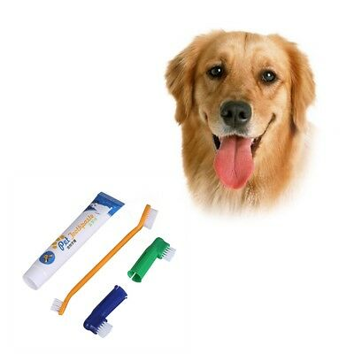 Pet Dog Finger Brush Toothbrush Chicken Flavour Toothpaste Oral Health Care Kit