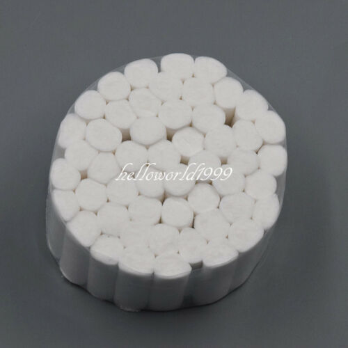 50 Pcs Dental Disposable High Absorbent Cotton Fibers Soft Rolls Pliable 10*38mm