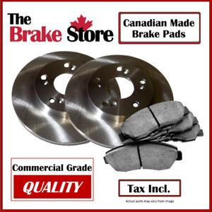 Dodge Caravan 2001–07 w/ Rear Disc Front Brake Pads and Rotors