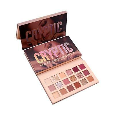 - Okalan Cryptic Nude Matte Glitter Duo Chromes Metallic 18 Color Shadow Palette