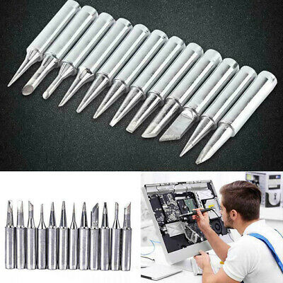 12pcs Soldering Iron Tips 900m-t For Hakko 936937928 Soldering Station T Sahh
