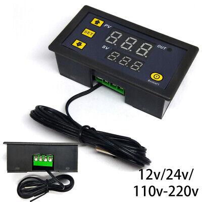 20 Amp Digital Temperature Controller Temp Sensor Thermostat Control Relay