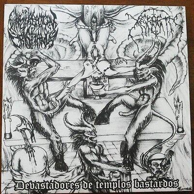 """Masturbacion Cristiana/Xerbeth - Devastadores De Templos Bastardos Split 7""""EP"""