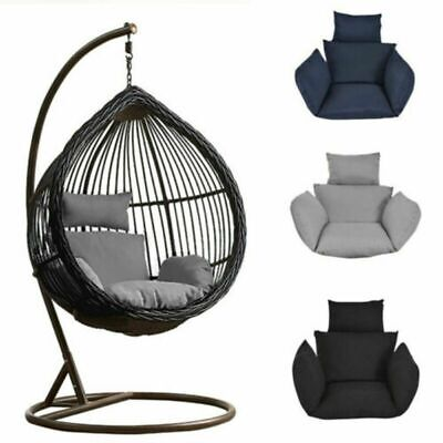 Hanging Egg Chair Cushion & Pillow Outdoor Porch Garden Swing Chair Padded Seat ()