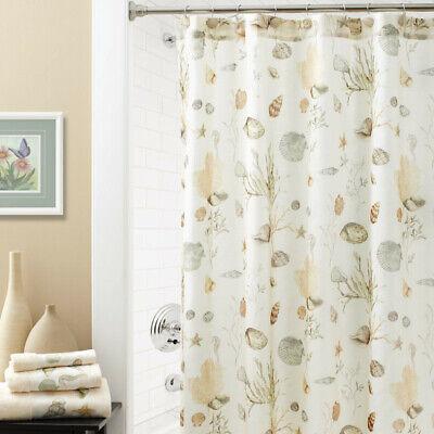 "Chapel Hill By Croscill ""Seashore"" Shower Curtain + Rug Brand New"