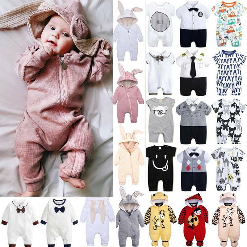 Toddler Baby Kids Boys Girls Romper Jumpsuit Casual Clothes