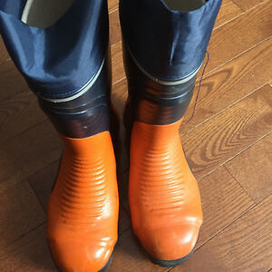 Steel Toe Rubber Boots New $35