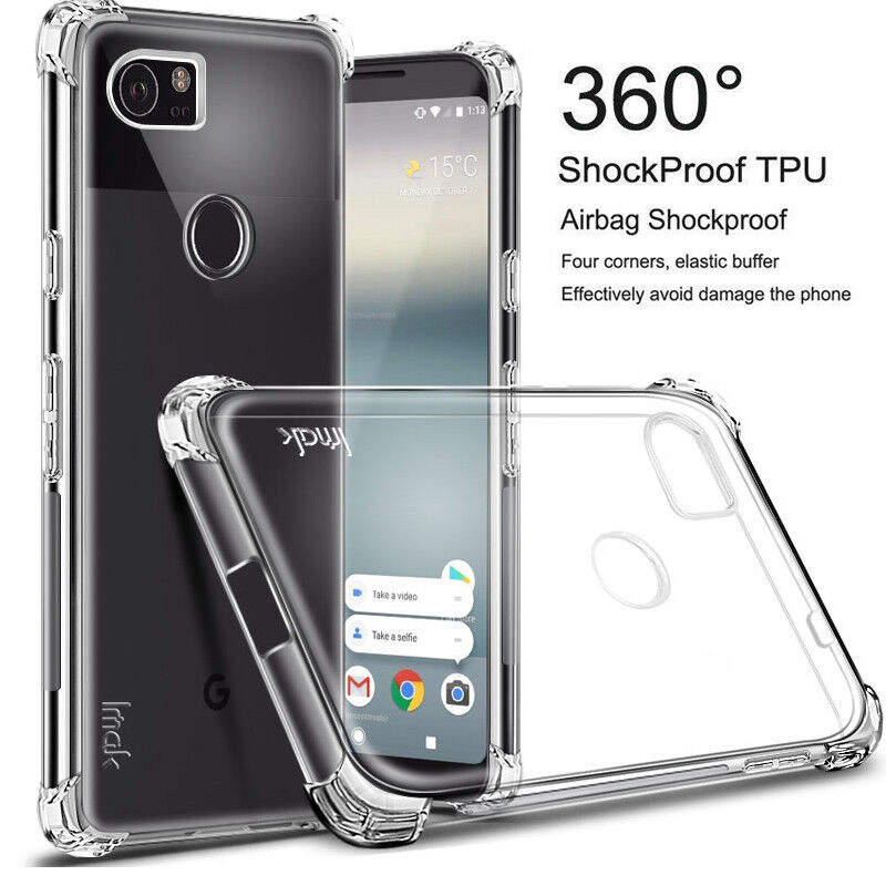 new style da6e9 9ead8 Details about For Google Pixel 3 3 XL 360° Shockproof Bumper Clear Slim  Soft TPU Case Cover