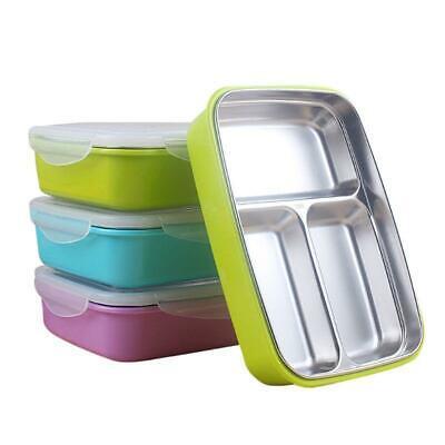New Children Kids Stainless Steel Bento Lunch Box Food Stora