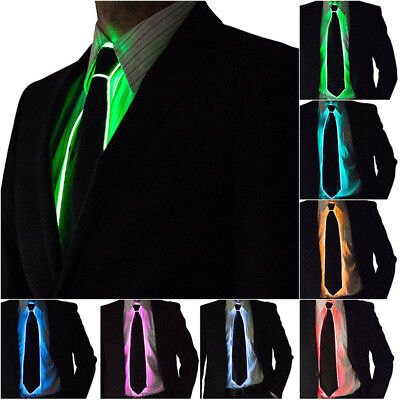 LED Light Up Ties Luminous EL Necktie DJ Party Bar Club Wedding Men's Cloth Gift](Led Necktie)