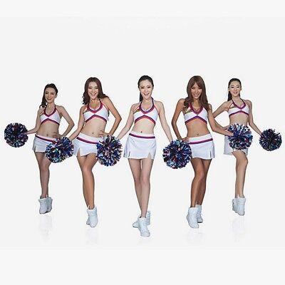Handheld Pom Poms Cheerleader Cheerleading Cheer Dance Party Football Club Decor - Pom Poms Cheer