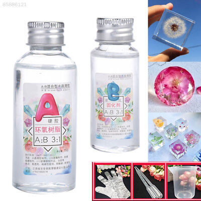 100g AB Glue Crystal Clear Epoxy Resin Set For Jewelry Making DIY Art Craft  for sale  Shipping to Ireland
