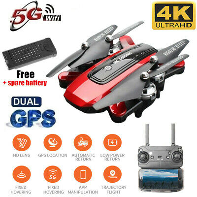 Drone Foldable Quadcopter GPS WIFI FPV 1080P Wide-Angle HD Camera +Spare Battery