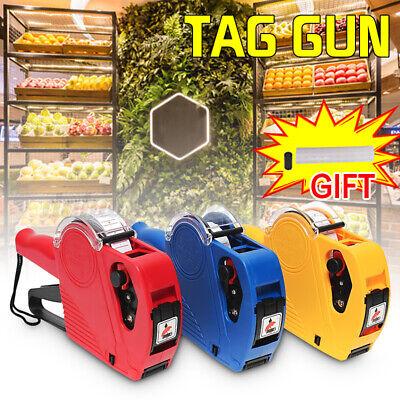 Price Tag Gun Machine 5000 Labels 1 Ink Roller Set Mx-5500 Eos 8 Digits