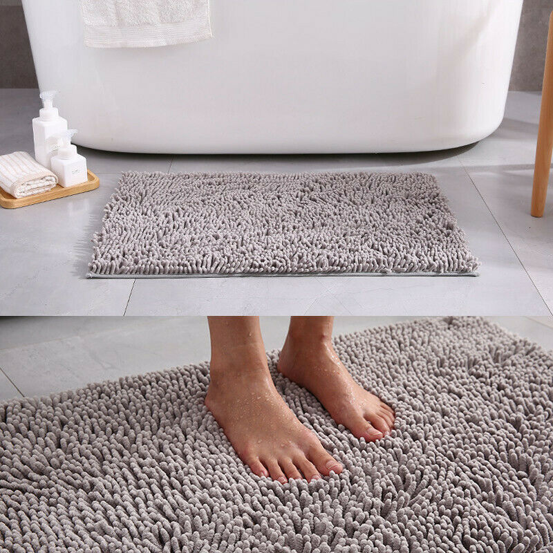 USA Microfiber Shaggy Non-Slip Absorbent Bath Mat Bathroom S