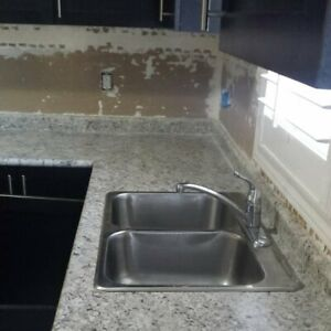 Kitchen countertop with Sink & Faucet