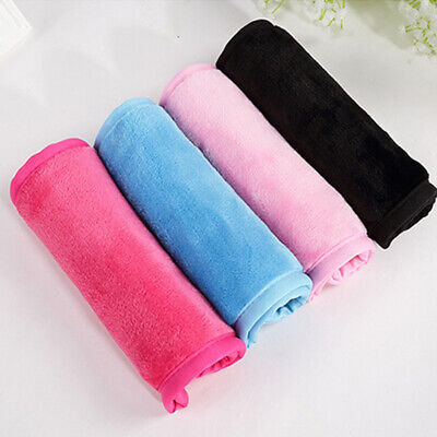 Cleansing Towel - Lazy Face Towel Microfiber Makeup Remover Cloth Reusable Facial Cleansing Pink