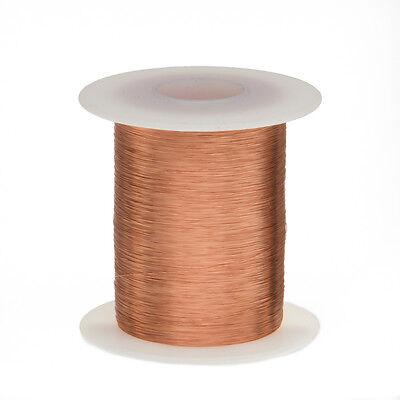 "34 AWG Gauge Enameled Copper Magnet Wire 2oz 1011' Length 0.0069"" 155C Natural"