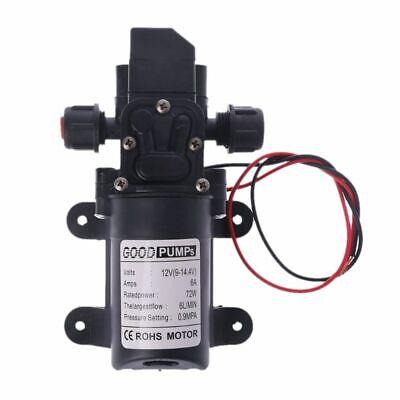 Dc 12v 130psi 6lmin Water High Pressure Diaphragm Self Priming Pump 70w