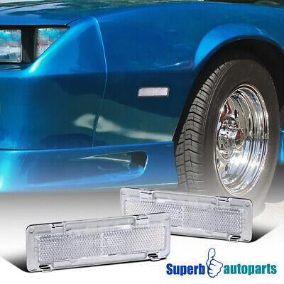 1985-1992 Chevy Camaro/ Pontiac Firebird Side Marker Lights Signal Lamps Chrome