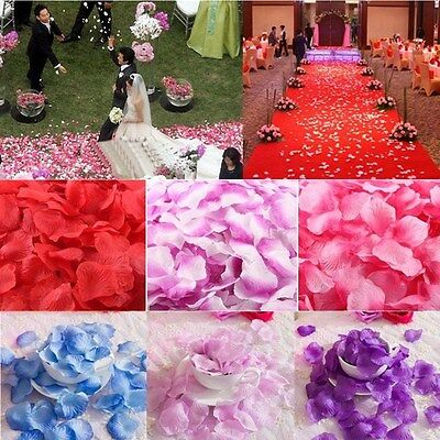 1000pcs Flower Rose Petals Wedding Party Table Decoration Floral Confetti Decor - Table Confetti
