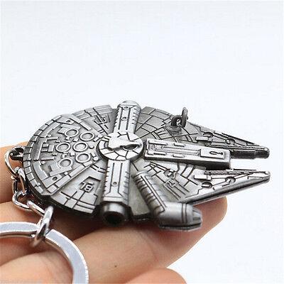 Fashion Silver Star Wars Millennium Falcon Keychain Keyring Key Ring Gift TR94