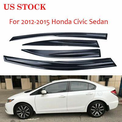For 2012-2015 Honda Civic Sedan Tape On Design Vent Side Window Visor Rain Guard
