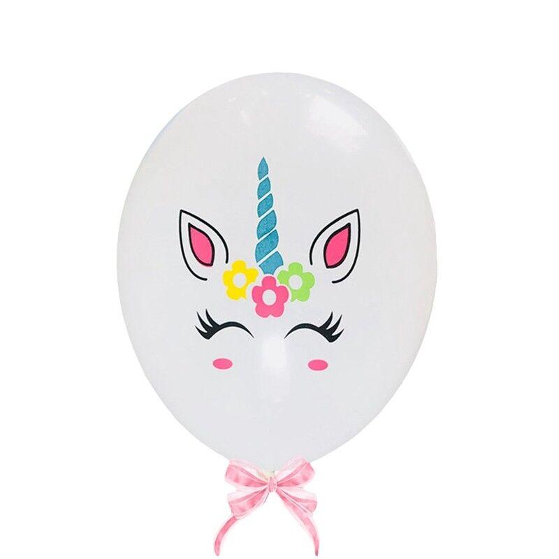 "12/"" 10x// 20x Unicorn Latex Balloons Birthday Party Decorations Girls Magical"