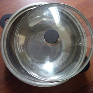 """14"""" Stainless Cooking Pot with Lid"""