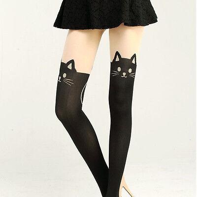 1 Paar Damen  Frauen Katzen-Schwanz Knie Hohe Strümpfe Strumpfhose