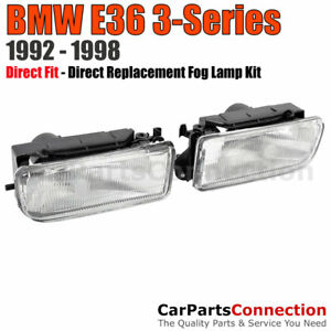 Fog Lights BMW E36 3-Series 92-98 2Dr 4Dr Sedan Coupe Front Bumper Lamps