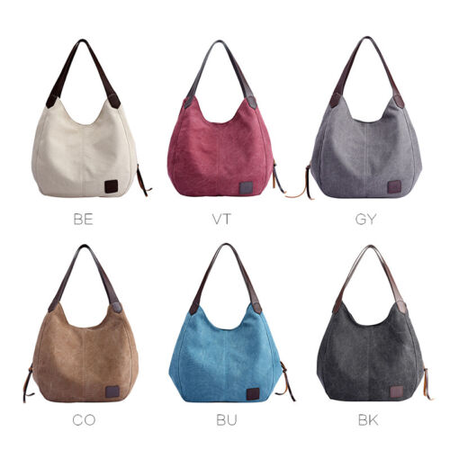 Women's Canvas Handbag Single Shoulder Bag Messenger Hobo To