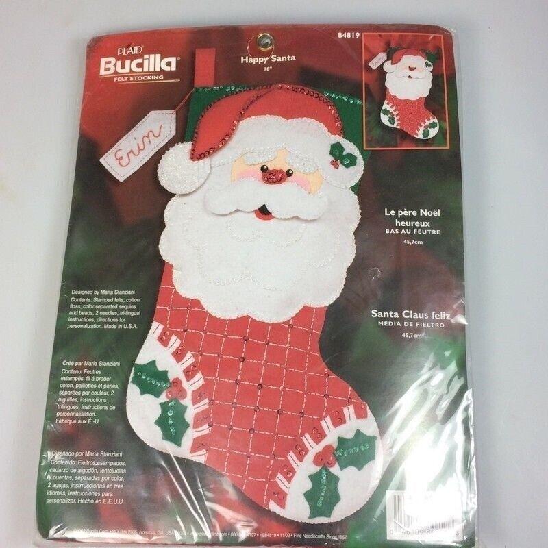 Bucilla Santa Stocking Kit Felt DIY Christmas indoor crafting