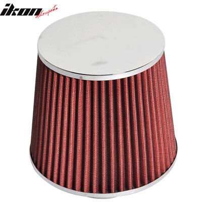 Fits 3 Inch Race Performance Cold Air Intake Cone Filter Red 02 11 Lancer