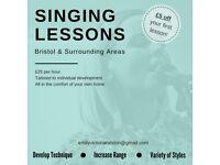 Singing Lessons in Bristol & Surrounding Areas
