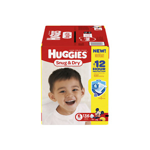 Pampers, size 6 huggies