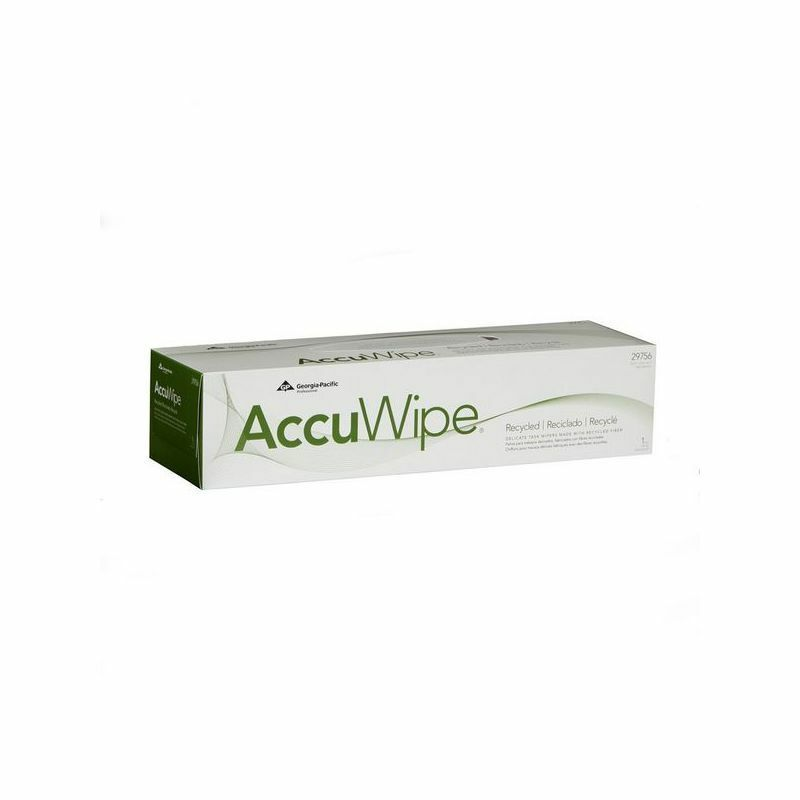 AccuWipe Recycled Delicate Task Wiper, Quarter-Fold 1-Ply, White 140 shts/cs