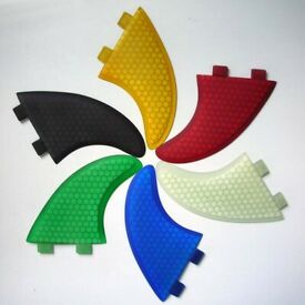 Surfboard Fins Honeycomb G5/M5 Template New! Set of 3 Thruster FCS fit surf fins Hexcore. 7 colours