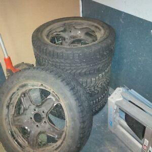 Firestone Winter Force Tires and Rims Kitchener / Waterloo Kitchener Area image 1