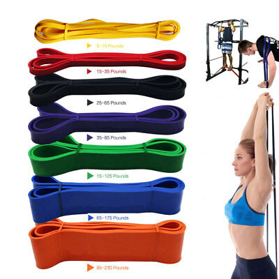 Resistance Exercise Bands Tube Home Gym Fitness Premium Natural Latex Heavy (Premium Fitness Tube)