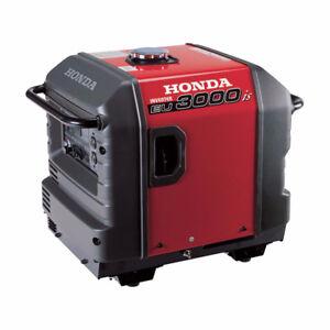 Honda EU3000I Inverter Generator - bi/weekly $38.59